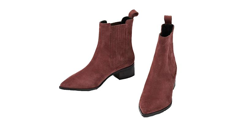 Suede Pink Leather Chelsea Boots