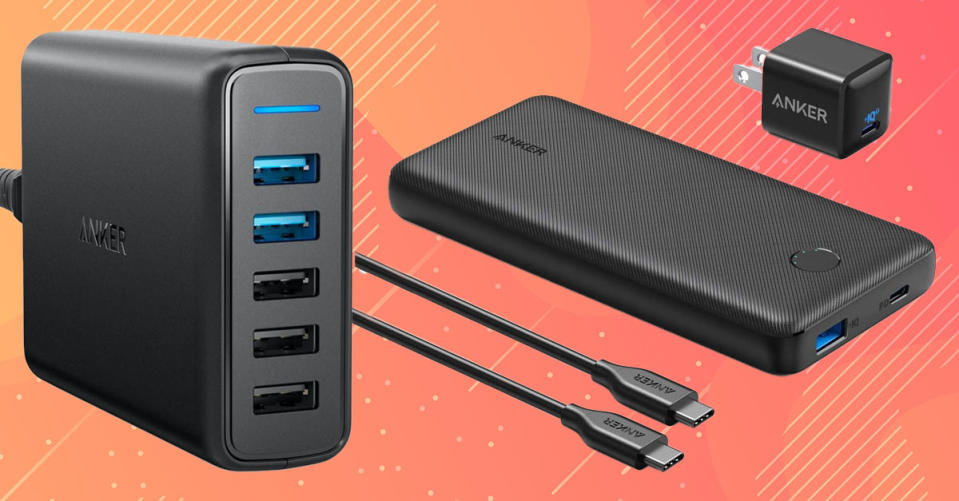 Anker — the industry's leading branding for charging accessories — is having a massive sale today only. (Photo: Amazon)