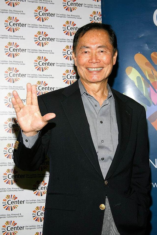 "Count ""Star Trek's"" George Takei (Sulu) among the many stars who've appeared with their mouths taped shut in an ad for the NOH8 Campaign, which protests California's ban on gay marriage. Andy Kropa/<a href=""http://www.gettyimages.com/"" target=""new"">GettyImages.com</a> - April 5, 2010"