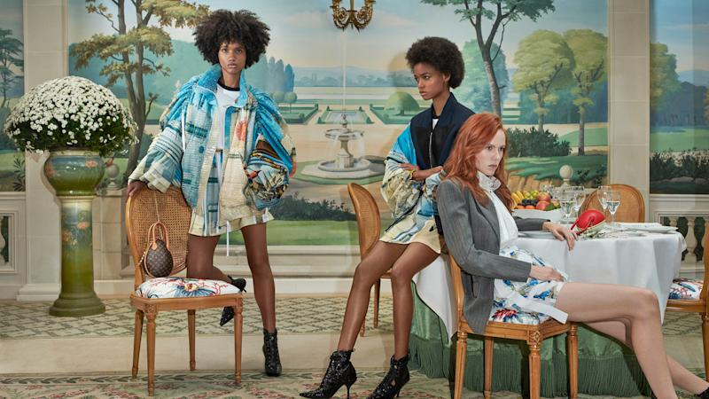 Three women in a new marketing campaign for Louis Vuitton.