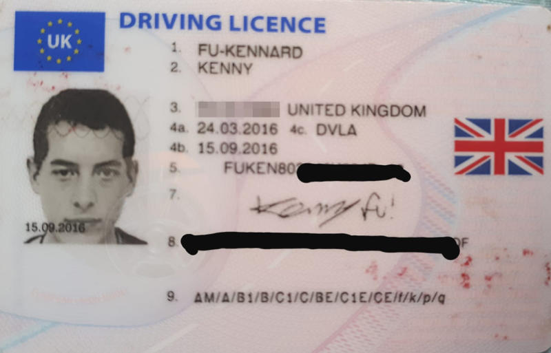 Kenny Fu-Kennard had no trouble being granted a drivers licence in his new name after changing his surname by deed poll in 2016. Source: Facebook / Kenny fu-Kennard