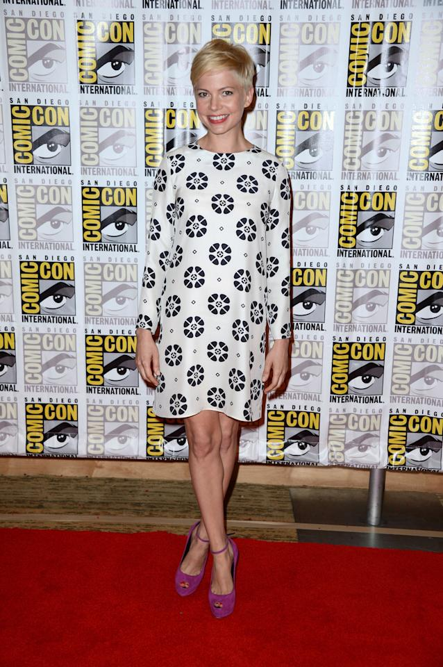 "SAN DIEGO, CA - JULY 12:  Actress Michelle Williams attends Walt Disney Studios: ""Frankenweenie,"" ""Wreck It Ralph"" and ""Oz"" during Comic-Con International 2012 held at the Hilton San Diego Bayfront Hotel on July 13, 2012 in San Diego, California.  (Photo by Frazer Harrison/Getty Images)"