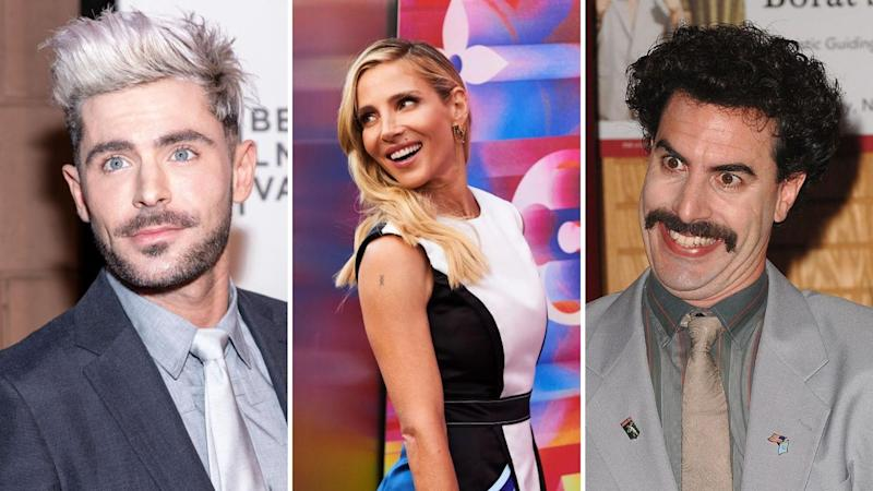 Actors Zac Efron, Elsa Pataky and Sasha Baron Cohen.