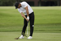 Brooks Koepka hits form the fairway on the seventh hole during the final round of the World Golf Championship-FedEx St. Jude Invitational Sunday, Aug. 2, 2020, in Memphis, Tenn. (AP Photo/Mark Humphrey)