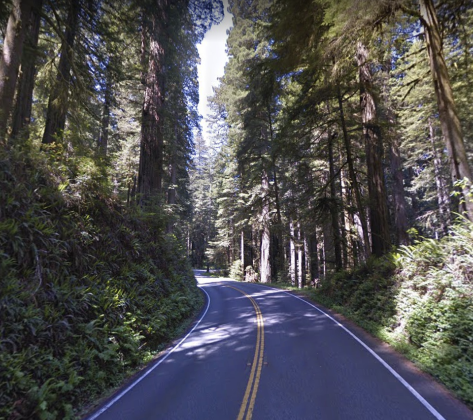 Pictured is the highway where the couple were driving. Source: GoogleMaps
