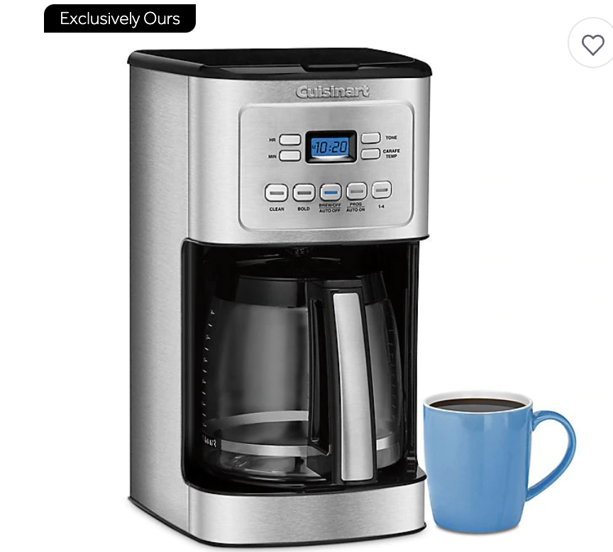 Cuisinart 14-Cup Programmable Coffee Maker with Hotter Coffee Option. PHOTO: Bed Bath and Beyond