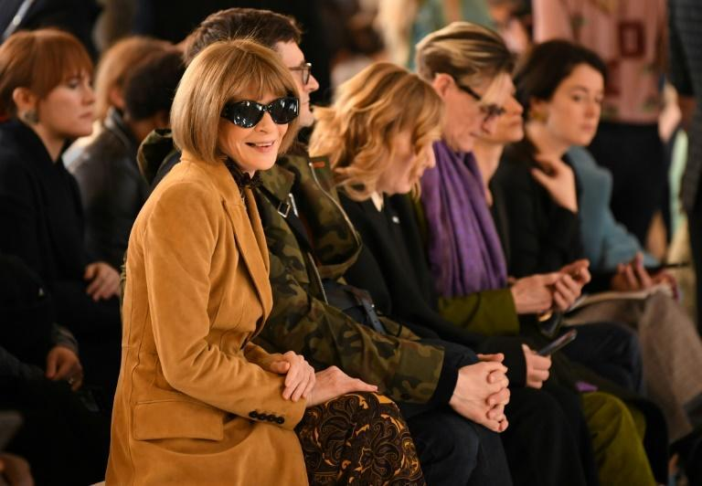 Vogue Editor in Chief Anna Wintour, is seen at a fashion show in February 2020