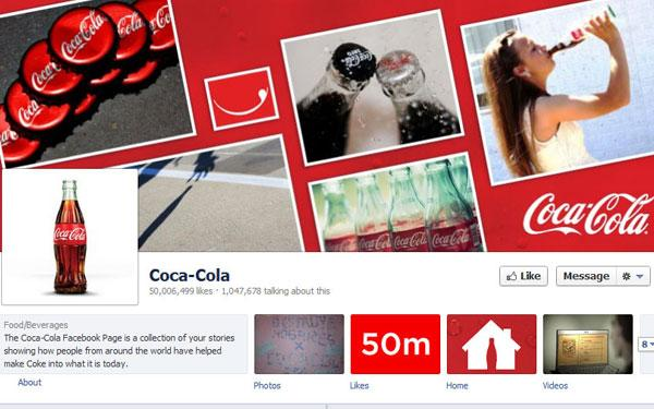 Coca-Cola Is First Retail Brand to Pass 50 Million Facebook Fans