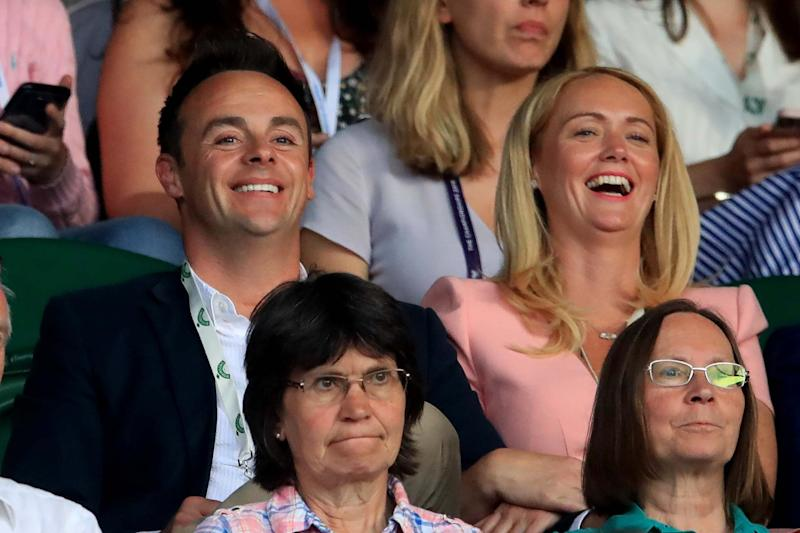 McPartlin with Anne-Marie Corbett at the Wimbledon Championships earlier this month (PA)