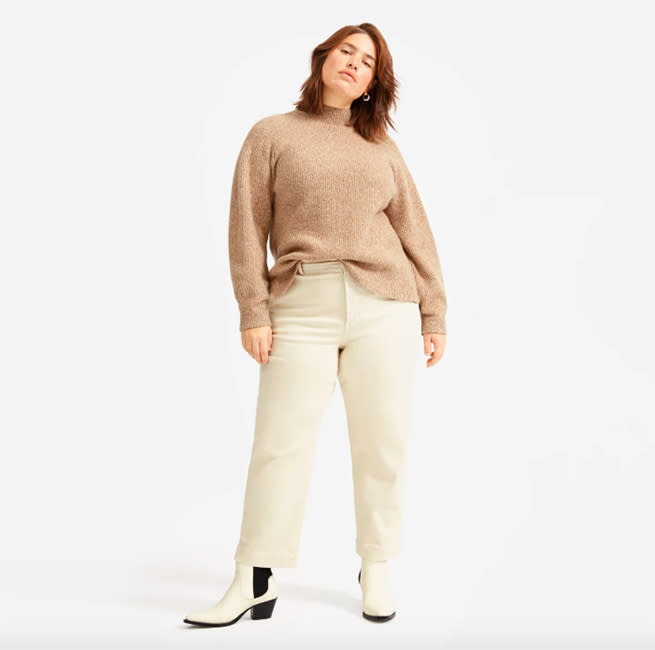 Order the Everlane Straght Leg Crop in Tall for a full-length fit. (Photo: Amazon)