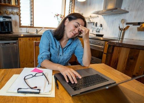 "<span class=""caption"">Ready to go back to the office?</span> <span class=""attribution""><a class=""link rapid-noclick-resp"" href=""https://www.shutterstock.com/image-photo/stressed-business-woman-working-home-on-1740222005"" rel=""nofollow noopener"" target=""_blank"" data-ylk=""slk:Sam Wordley via Shutterstock"">Sam Wordley via Shutterstock</a></span>"