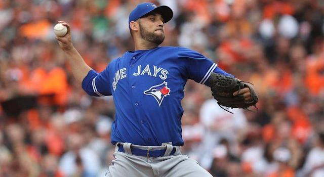 Toronto Blue Jays opening day starter Marco Estrada showed off a more impressive fastball on Monday than he's had in years. (Shutterstock)