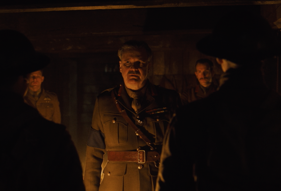 Colin Firth is briefly glimpsed in the first <i>1917</i> trailer. (eOne)