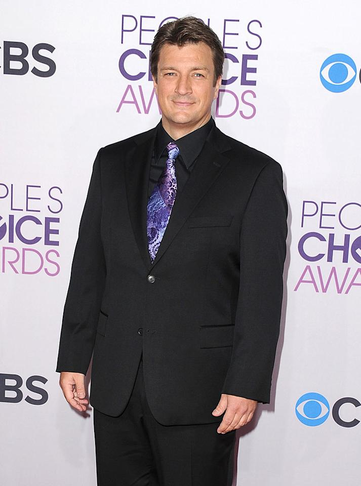 Nathan Fillion attends the 2013 People's Choice Awards at Nokia Theatre L.A. Live on January 9, 2013 in Los Angeles, California.
