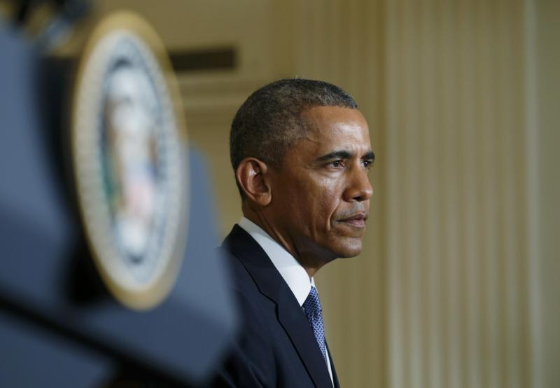 U.S. President Obama faces joint news conference at the White House in Washington