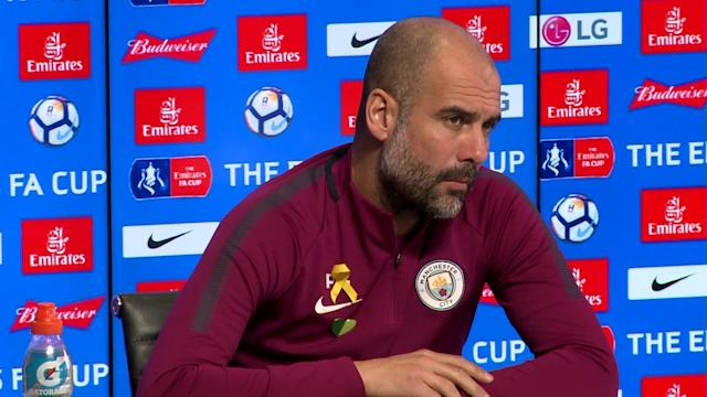 Pep Guardiola has responded to Claude Puel's suggestion that Manchester City disrespected Leicester City in their pursuit of winger Riyad Mahrez.