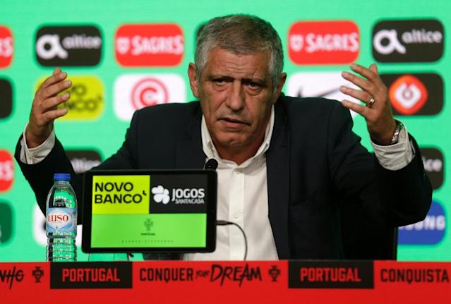 All in hand: Portugal coach Fernando Santos announces his World Cup squad on Thursday (AFP Photo/JOSE MANUEL RIBEIRO)