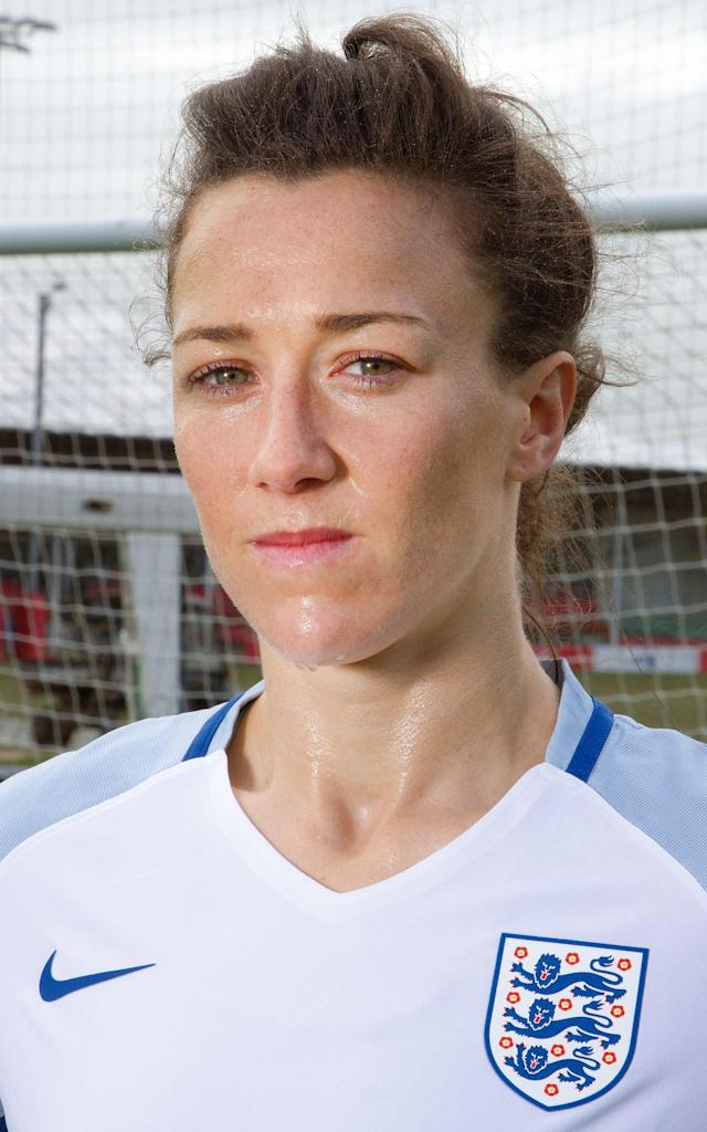 <span>Lucy Bronze photographed at St George's Park, the FA's national centre in Burton upon Trent</span> <span>Credit: Kalpesh Lathigra </span>