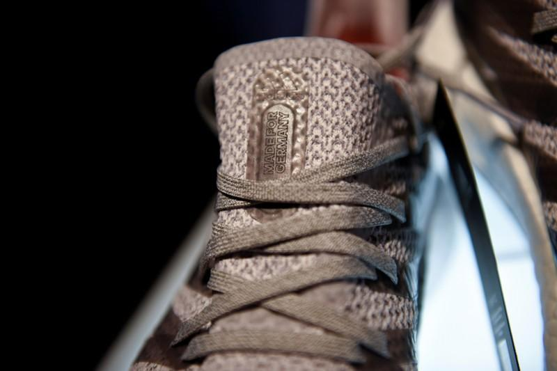FILE PHOTO: Prototypes of Futurecraft 3D shoe are pictured during presentation of first Adidas shoe from its new manufacturing process, Speedfactory in Berlin