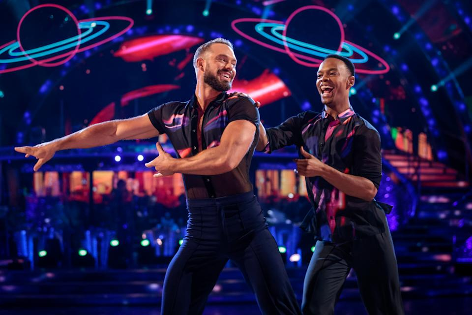 WARNING: Embargoed for publication until 21:00:01 on 02/10/2021 - Programme Name: Strictly Come Dancing 2021 - TX: 02/10/2021 - Episode: Strictly Come Dancing - TX2 LIVE SHOW (No. n/a) - Picture Shows: ++DRESS RUN++ *NOT FOR PUBLICATION UNTILL 21:00hrs, SATURDAY 2ND OCTOBER, 2021* John Waite, Johannes Radebe - (C) BBC - Photographer: Guy Levy