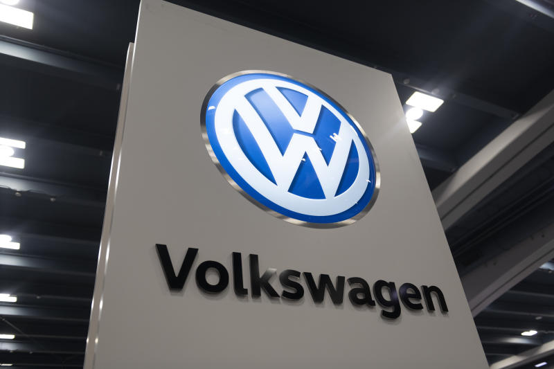 A Volkswagen logo is seen at 2019 San Francisco Auto Show in San Francisco, California, United States on November 30, 2019. (Photo by Yichuan Cao/Sipa USA)