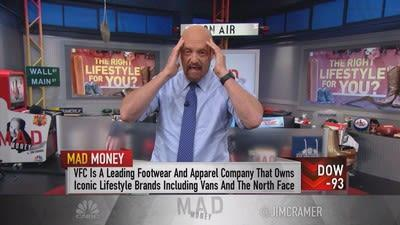 Jim Cramer says apparel giant VF Corp. has struck gold in Vans, its fast-growing subsidiary that could be the next Nike.