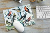 """<p>Build a better mouse pad: Put a bird—or seven—on it! Download the free <a href=""""http://thegraphicsfairy.com/instant-art-printable-birds-on-branches-natural-history/"""" rel=""""nofollow noopener"""" target=""""_blank"""" data-ylk=""""slk:illustration"""" class=""""link rapid-noclick-resp"""">illustration</a> above. Resize the image to 10""""W x 7 1/4""""H and print onto fabric-transfer paper<em>.</em> Cut out the image from the transfer paper, remove the backing, and place, right side facing up, on the smooth side of a piece of top-grain leather<em>.</em> Iron the image onto the leather, following the transfer-paper package instructions, and trim away the excess leather bordering the flock.</p><p><a class=""""link rapid-noclick-resp"""" href=""""https://go.redirectingat.com?id=74968X1596630&url=http%3A%2F%2Fwww.michaels.com%2Fsuede-leather-trim-artminds%2FM10297417.html%3Fdwvar_M10297417_color%3DMedium%2BBrown%23start%3D6&sref=https%3A%2F%2Fwww.countryliving.com%2Fdiy-crafts%2Ftips%2Fg645%2Fcrafty-christmas-presents-ideas%2F"""" rel=""""nofollow noopener"""" target=""""_blank"""" data-ylk=""""slk:SHOP LEATHER"""">SHOP LEATHER</a></p>"""