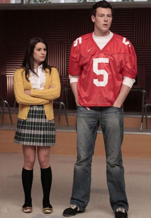The co-stars (and eventual partners) met playing Rachel and Finn on <i>Glee</i>. Photo: FOX