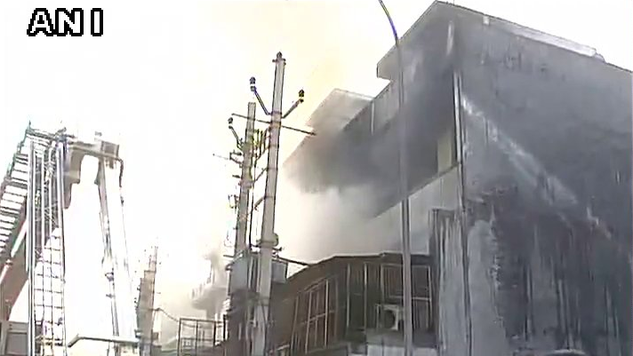 Massive Blaze At Plastic Factory in Delhi's Narela