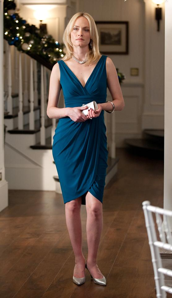 "<p class=""MsoNormal""><b>Lydia Davis's Midnight-Blue Wrap Dress in Episode 20, 'Legacy'</b></p><p class=""MsoNormal"">If you're trying to seduce your best friend's husband, this outfit will surely get the job done. While we don't condone Lydia's behavior, we fully support this <a href=""http://www.farfetch.com/shopping/women/lela-rose-sleeveles-wrap-dress-item-10120153.aspx""><span style=""color:#1155CC;"">Lela</span></a><a href=""http://www.farfetch.com/shopping/women/lela-rose-sleeveles-wrap-dress-item-10120153.aspx""><span style=""color:#1155CC;""> </span></a><a href=""http://www.farfetch.com/shopping/women/lela-rose-sleeveles-wrap-dress-item-10120153.aspx""><span style=""color:#1155CC;"">Rose</span></a><a href=""http://www.farfetch.com/shopping/women/lela-rose-sleeveles-wrap-dress-item-10120153.aspx""><span style=""color:#1155CC;""> </span></a><a href=""http://www.farfetch.com/shopping/women/lela-rose-sleeveles-wrap-dress-item-10120153.aspx""><span style=""color:#1155CC;"">replica</span></a>. Pair it with your favorite silver pumps and a matching clutch, and you're ready for a beachside bash.</p>"