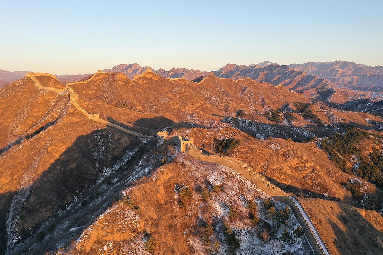 <p>One month later, this aerial shot of the Great Wall was taken once parts of the massive tourist attraction were closed off to prevent the spread of the virus.</p>