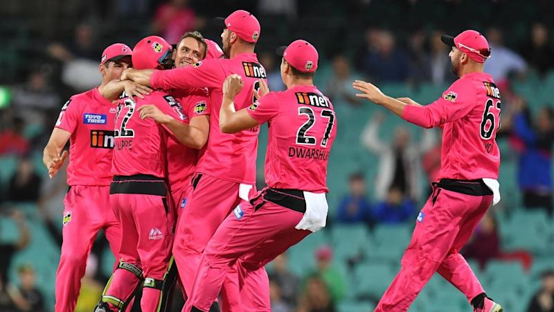 The Sydney Sixers have cruised to the BBL crown, beating the Melbourne Stars in a rain-hit final