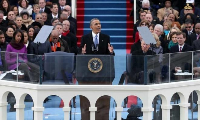 """President Obama made history on Jan. 21, becoming the first president to say the word """"gay"""" in an inaugural address."""