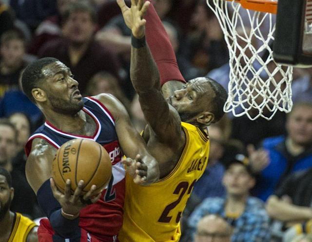 "<a class=""link rapid-noclick-resp"" href=""/nba/players/4716/"" data-ylk=""slk:John Wall"">John Wall</a> was terrific for the Wizards on Saturday. (AP)"