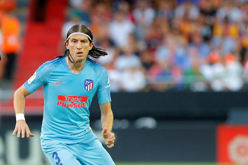 On the move? Filipe Luis appears to be PSG bound: REUTERS/Heino Kalis