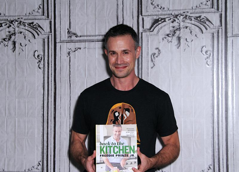 "NEW YORK, NY - JUNE 07: Freddie Prinze Jr appears to promote ""Back To The Kitchen"" during the AOL BUILD Series at AOL Studios In New York on June 7, 2016 in New York City. (Photo by Donna Ward/Getty Images)"