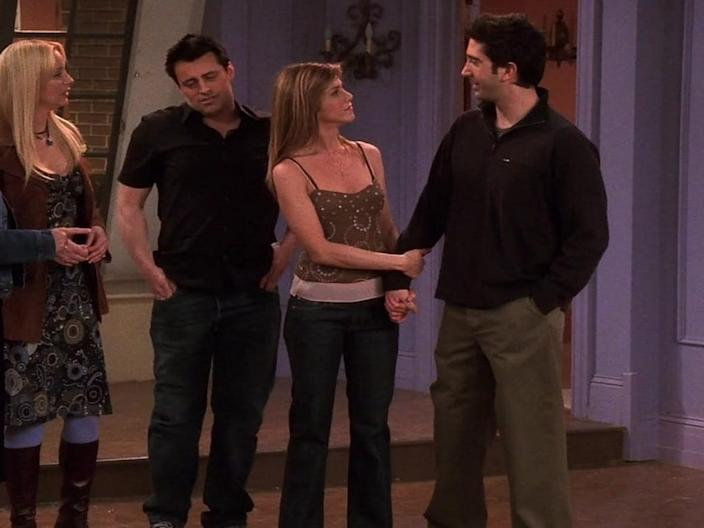 Rachel Green's final outfit was simple.