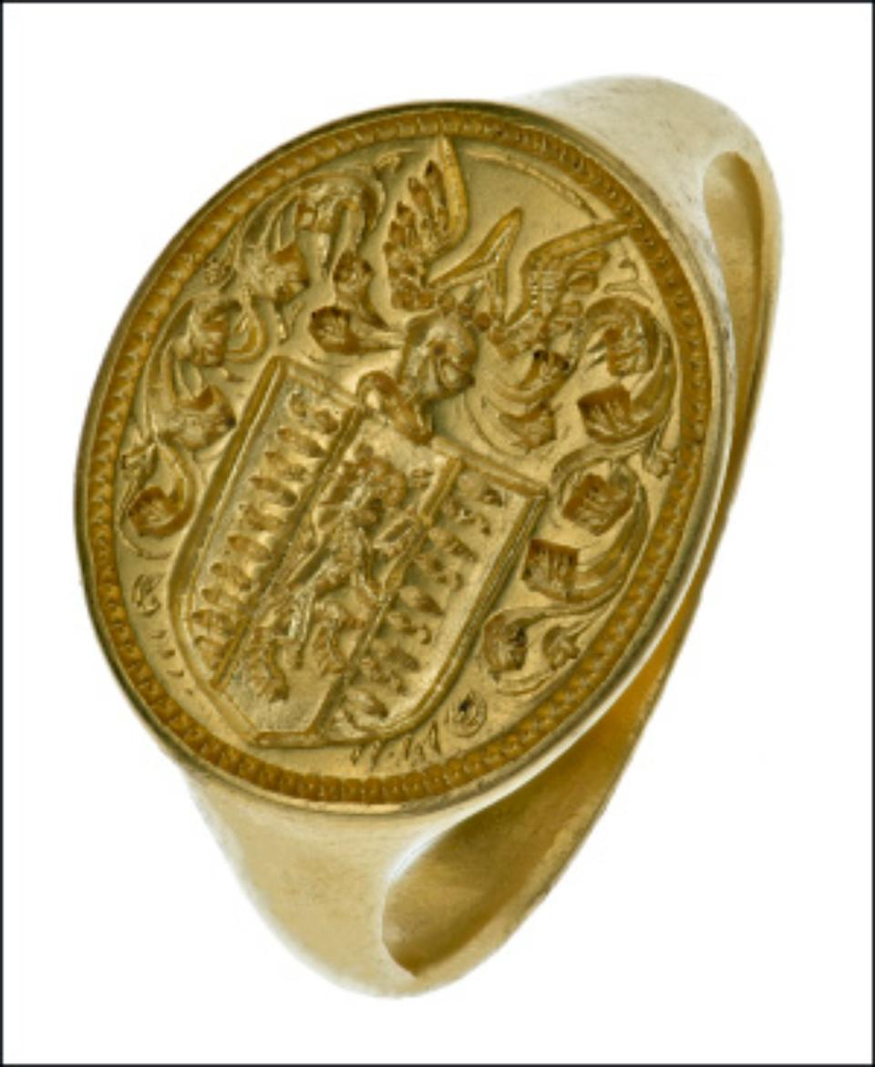 The ring is thought to date from 1640-1680 (DWP)