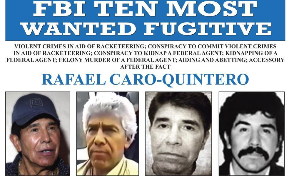 "<span class=""element-image__caption"">An FBI wanted poster for Rafael Caro Quintero</span> <span class=""element-image__credit"">Photograph: AP</span>"