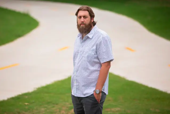Andrew Robinson, an eighth grade history teacher at Uplift Luna Middle School in Dallas, says he's concerned about the law's edict not to give deference to any one perspective. (Shelby Tauber for The Texas Tribune)