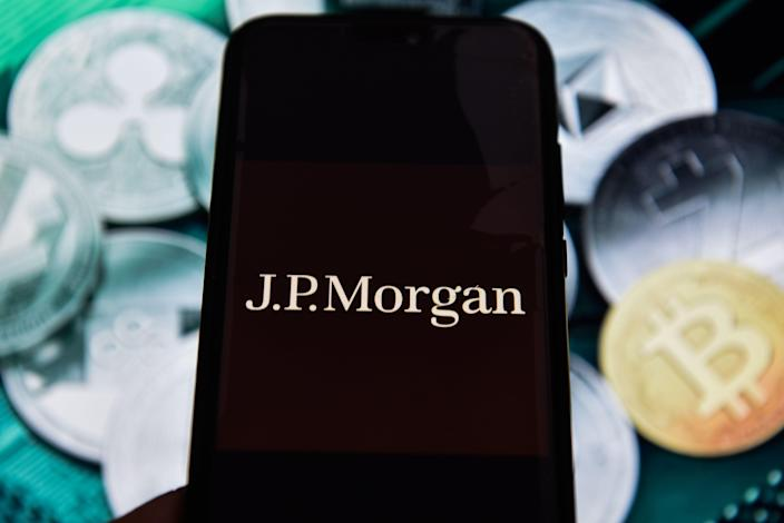 POLAND - 2019/02/17: JP Morgan logo is seen on an android mobile phone. (Photo by Omar Marques/SOPA Images/LightRocket via Getty Images)