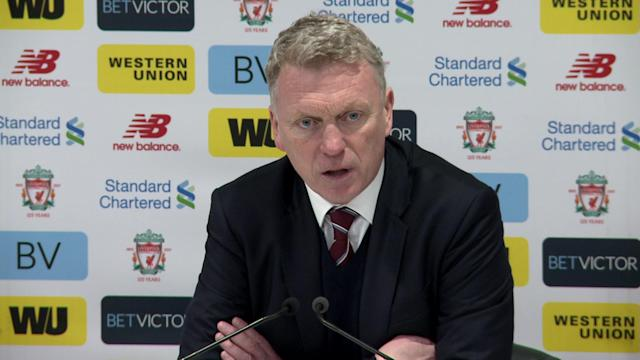 David Moyes on West Ham's struggles coping with Liverpool's attacking play after their 4-1 Anfield loss