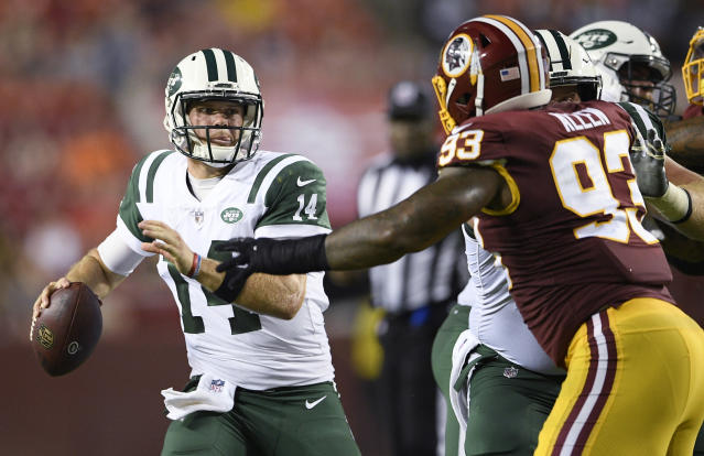 For the most part, Sam Darnold (14) looked the part as the Jets' top overall draft pick. (AP)