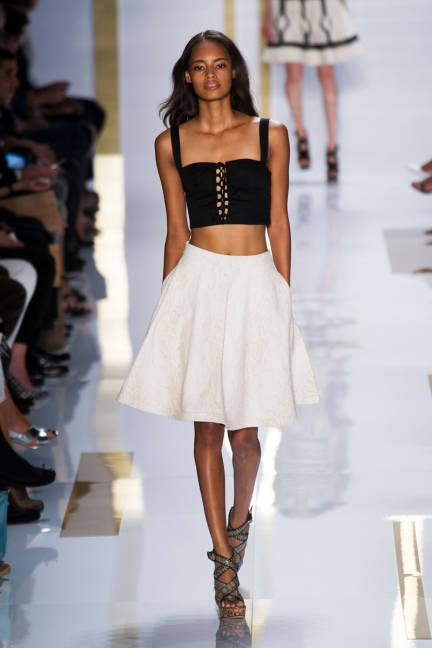"""<div class=""""caption-credit""""> Photo by: Photo: Courtesy of Imaxtree and Alessandro Lucioni</div><div class=""""caption-title"""">Crop Tops</div>Stick to that gym routine-bare midriffs are here to stay. <br> <br> Diane von Furstenberg Spring 2014 Ready-to-Wear Collection <br> <br> More on ELLE.com: <br> <a rel=""""nofollow"""" target="""""""" href=""""http://www.elle.com/fashion/spotlight/model-watch-f13#slide-1?link=rel&dom=yah_life&src=syn&con=blog_elle&mag=elm"""">Fashion Week Forecast: 16 Models To Watch Now</a> <br> <a rel=""""nofollow"""" target="""""""" href=""""http://www.elle.com/fashion/street-chic/nyfw-ss14-street-style#slide-1?link=rel&dom=yah_life&src=syn&con=blog_elle&mag=elm"""">Street Chic: New York Fashion Week</a> <br>"""