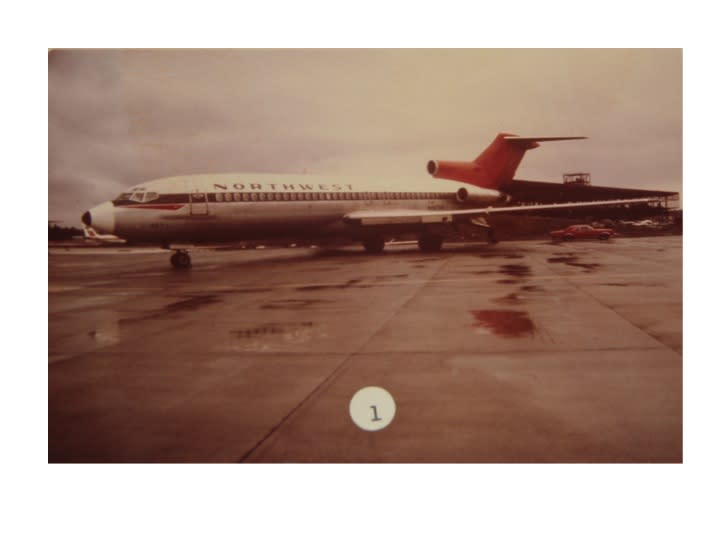 Northwest Orient Flight 305, a Boeing 727, and the plane that was hijacked.