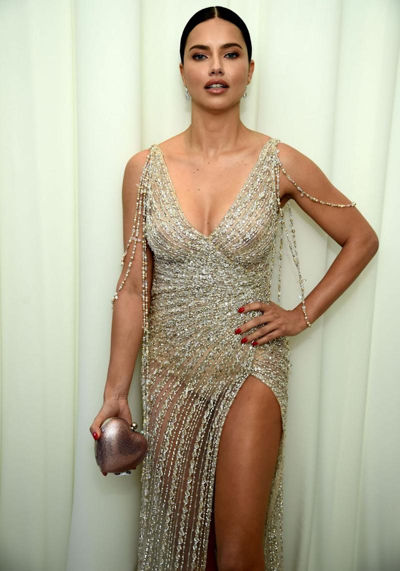 Adriana Lima always manages to nail her red carpet looks, but it seems she had a small slip-up on Sunday. Source: Getty