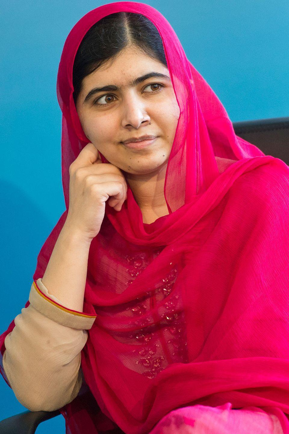 """<p>At 17, Yousafzai became the youngest Nobel Prize laureate for her humanitarian efforts. She captured the world's attention after being shot by the Taliban in Pakistan on her way to school because she was an advocate for women pursuing education. She is currently working towards her bachelor's degree at Oxford's Lady Margaret Hall while continuing her charity work through her organization, <a href=""""https://www.malala.org/"""" rel=""""nofollow noopener"""" target=""""_blank"""" data-ylk=""""slk:The Malala Fund"""" class=""""link rapid-noclick-resp"""">The Malala Fund</a>.</p>"""