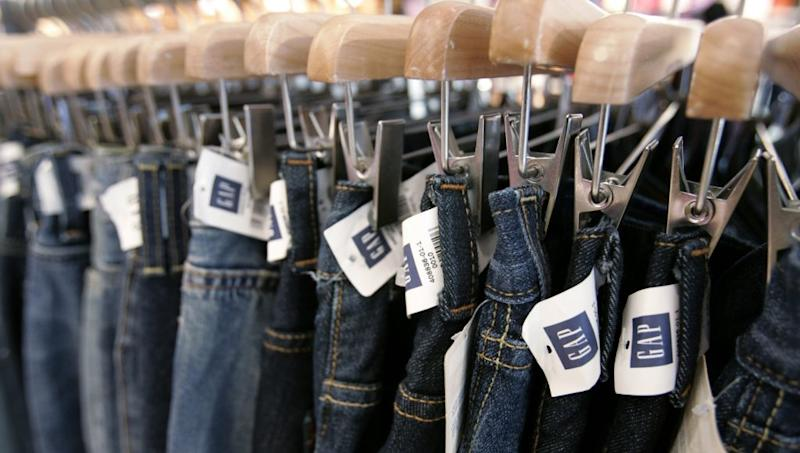 ** FILE ** A display of jeans at the Gap store at Stanford Shopping Center in a Palo Alto, Calif. file photo from Aug. 16, 2006. Seventeen CEOs swept out. More than a hundred companies under federal investigation and over $5 billion in profits wiped out by restatements. Indictments so far: two companies. The toll of the options backdating affair, corporate America's scandal of the year, has been heavy. (AP Photo/Paul Sakuma, File)