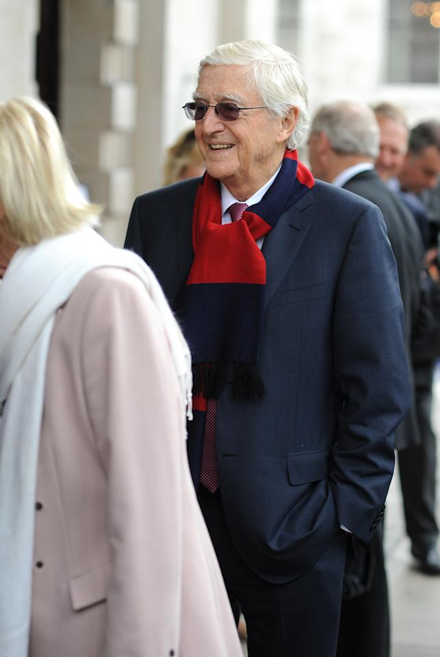LONDON, ENGLAND - JUNE 24: Michael Parkinson attends the Memorial Service for former Cricketer Tony Greig on June 24, 2013 in London, England. (Photo by Charlie Crowhurst/Getty Images)