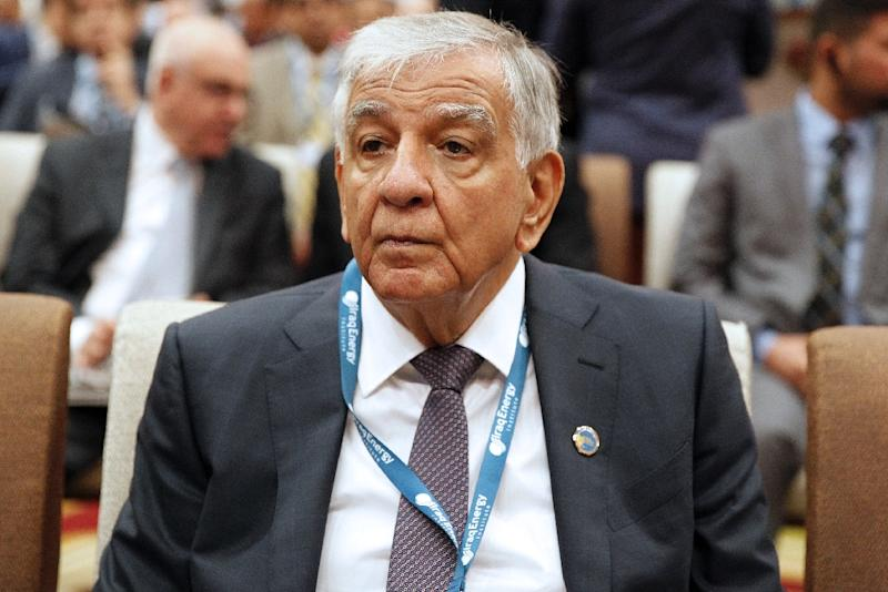 "Iraq's Oil Minister Jabbar Al-Luaibi, pictured in 2017, said, ""the price of petrol has not reached the desired level"""